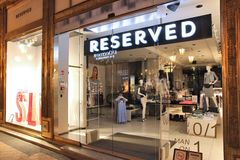 Reserved fashion store Stock Images