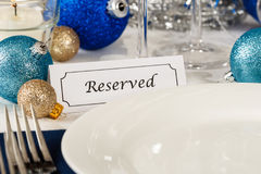 Reserved Holiday Table Setting Royalty Free Stock Photos