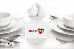 Reserved for lovers Royalty Free Stock Image