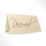 Reserved note with place for name Royalty Free Stock Photography