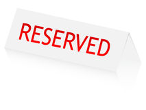 Reserved panel. Isolated on white Royalty Free Stock Photo