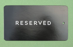 Reserved paperboard tag Royalty Free Stock Photo