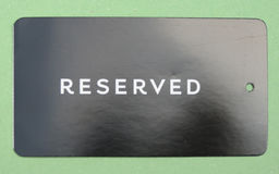 Reserved paperboard tag Royalty Free Stock Photography