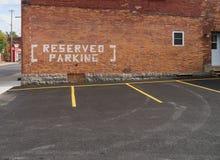 Reserved parkering Arkivbild