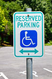 Reserved parking Stock Image