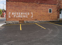 Reserved Parking Stock Photography