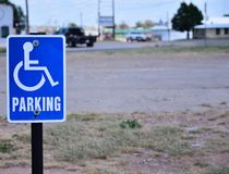 Reserved parking for handicapped only. Royalty Free Stock Image
