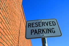 Reserved Parking Sign Royalty Free Stock Images