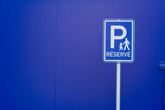 Free Reserved Parking Sign Royalty Free Stock Photo - 2025025