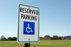 Reserved Parking Sign. Sign indicating reserved parking Stock Image