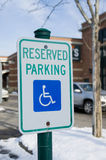 Reserved Parking Royalty Free Stock Image