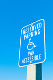 Reserved Parking Sign Royalty Free Stock Image
