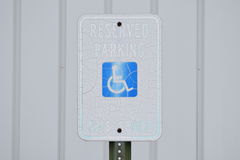 Reserved Parking This Space Handicap Vintage Parking Sign Stock Photo