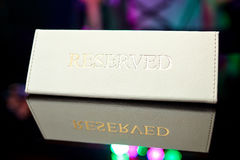 Reserved plate on the table Stock Photos