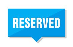 Reserved price tag stock illustration