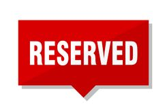 Reserved red tag royalty free illustration