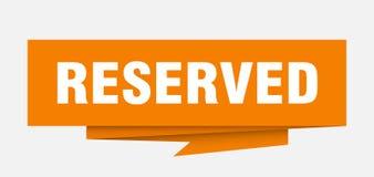 reserved stock illustration