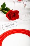 reserved restaurangtabell Arkivbild