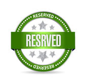 Reserved seal stamp illustration design Royalty Free Stock Photo