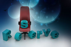 Reserved seat Stock Photography