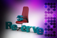 Reserved seat Royalty Free Stock Photography