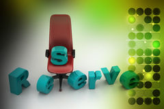 Reserved seat Royalty Free Stock Image