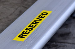 Reserved seat Royalty Free Stock Images
