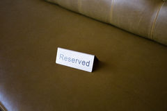 Reserved Seat Tag at Wedding Royalty Free Stock Image