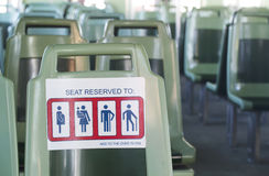 Reserved Seating Royalty Free Stock Image