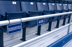 Reserved Seating. At a sports arena Stock Image