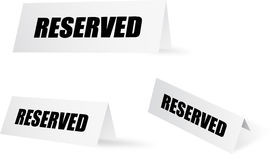 Reserved set Royalty Free Stock Photos