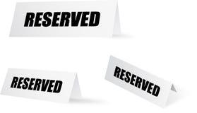 reserved set Royaltyfria Foton