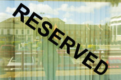 Reserved shop window Stock Images