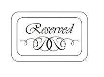 Reserved Sign. For a luxury place or web space Royalty Free Stock Image