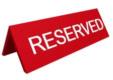 Reserved sign Royalty Free Stock Images