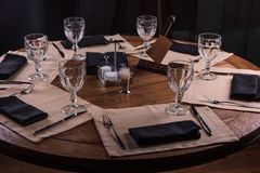 Reserved Restaurant Table Stock Image