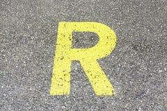 Reserved Sign on asphalt Stock Image