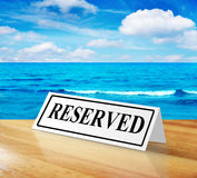 Reserved sign Stock Image