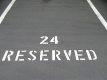 Reserved Sign On The Asphalt Royalty Free Stock Photos