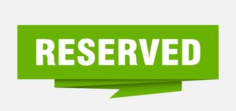 reserved vector illustration