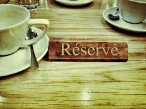 Reserved sign Royalty Free Stock Photos