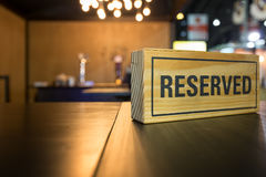 Reserved sign Stock Images