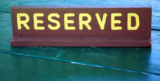 Reserved sign. Stock Image