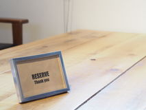 Reserved sign Stock Photography