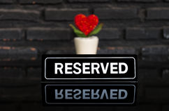 Reserved signboard Stock Photo