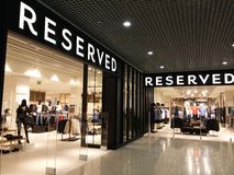 Reserved store Stock Image