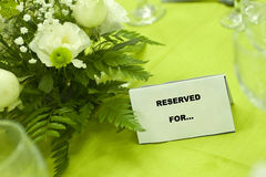 reserved tabell Royaltyfria Bilder
