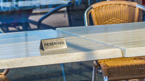 reserved tabell Arkivfoton