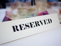 Free Reserved Table Stock Photo - 14822990