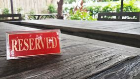 Reserved Stock Images